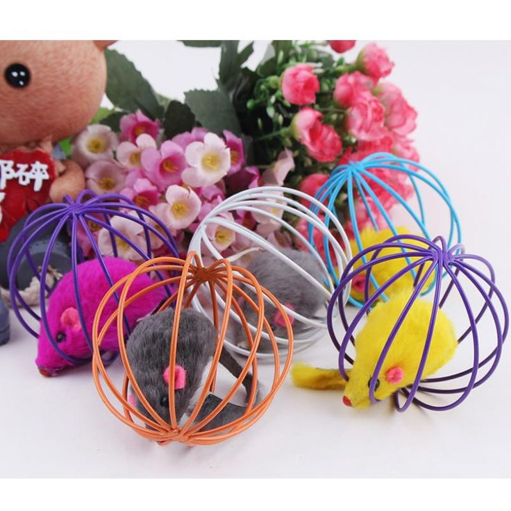 [Visit to Buy] New Funny Toys False Mounse in Rat Cage Ball for Pet Cat Kitten Playing Cage Ball Toy for Pets #Advertisement