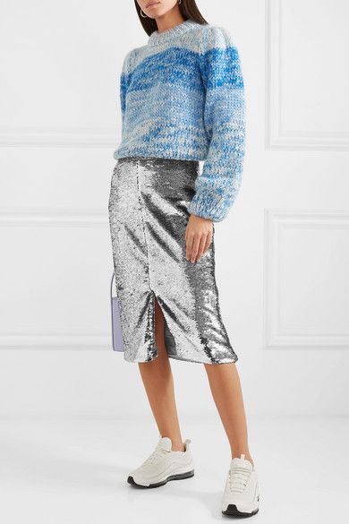 011a4c71 GANNI - Sequined satin skirt in 2019 | 2019 Wish List | Satin skirt ...