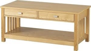 Ashmore Natural Ash Veneer solid 2 Drawer Coffee Table. Only £73