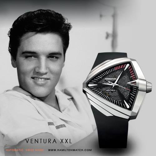 #hamilton #venturaxxl Nel 1957 Ventura ha scritto un pezzo di storia dell'orologeria con il primo orologio elettrico a batteria al mondo, che ancora oggi, fedele omaggio al modello originale, rimane un simbolo dello stile americano anni '50. Il Ventura fu subito un successo, la gente se ne innamorò immediatamente. Anche un testimonial d'eccezione ne rimase folgorato: era Elvis Presley, e come lui tanti nomi altisonanti ne indossavano uno. <<< www.pisanigioielleria.com >>>