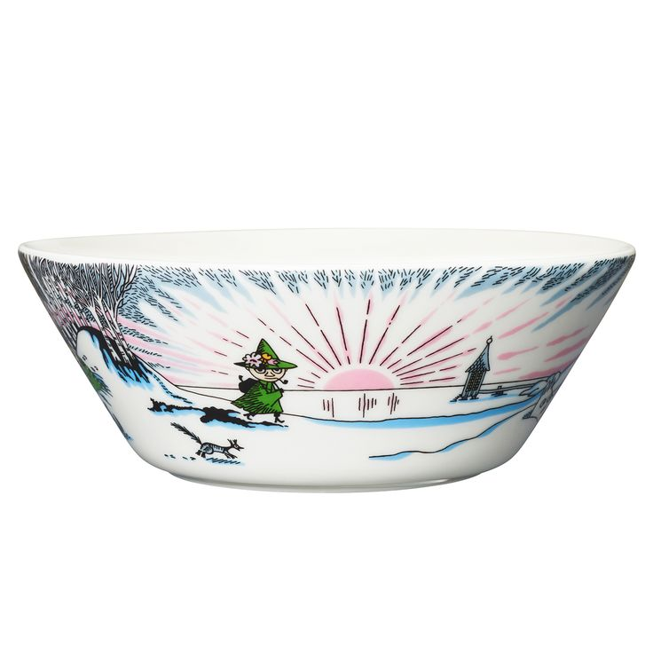 Moomin bowl 15 cm, Spring Winter