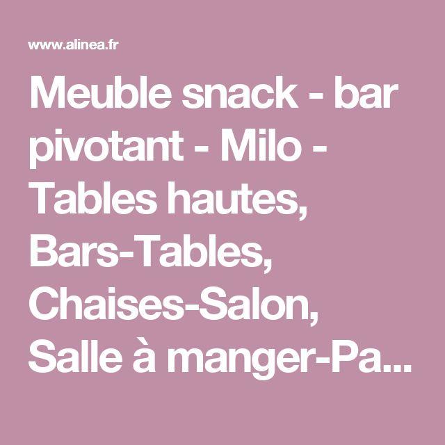 meuble snack bar pivotant milo tables hautes bars. Black Bedroom Furniture Sets. Home Design Ideas