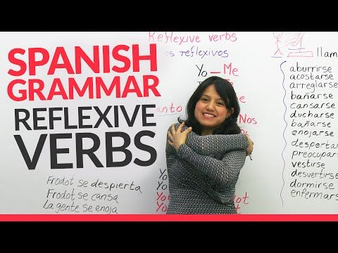 Reflexive verbs in english examples