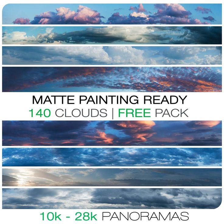 El especialista en matte painting, concept art y fotografía, Jacek Pilarski, comparte esta espectacular colección con 140 cielos nubosos panorámicos en alta resolución para que utilices libremente en tus proyectos.  Son casi 4GB en imágenes, disponibles en formato .TIFF.
