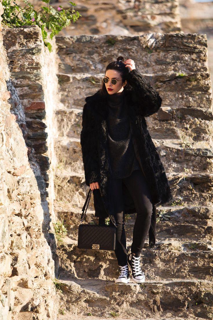 Stella Asteria Chanel bag and Converse All Star