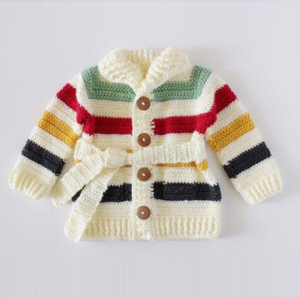 Hudsons bay baby sweater crochet pattern | roperito bebés ...