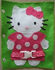 Hello Kitty Buckle Quiet Book Page I made for my daughter!