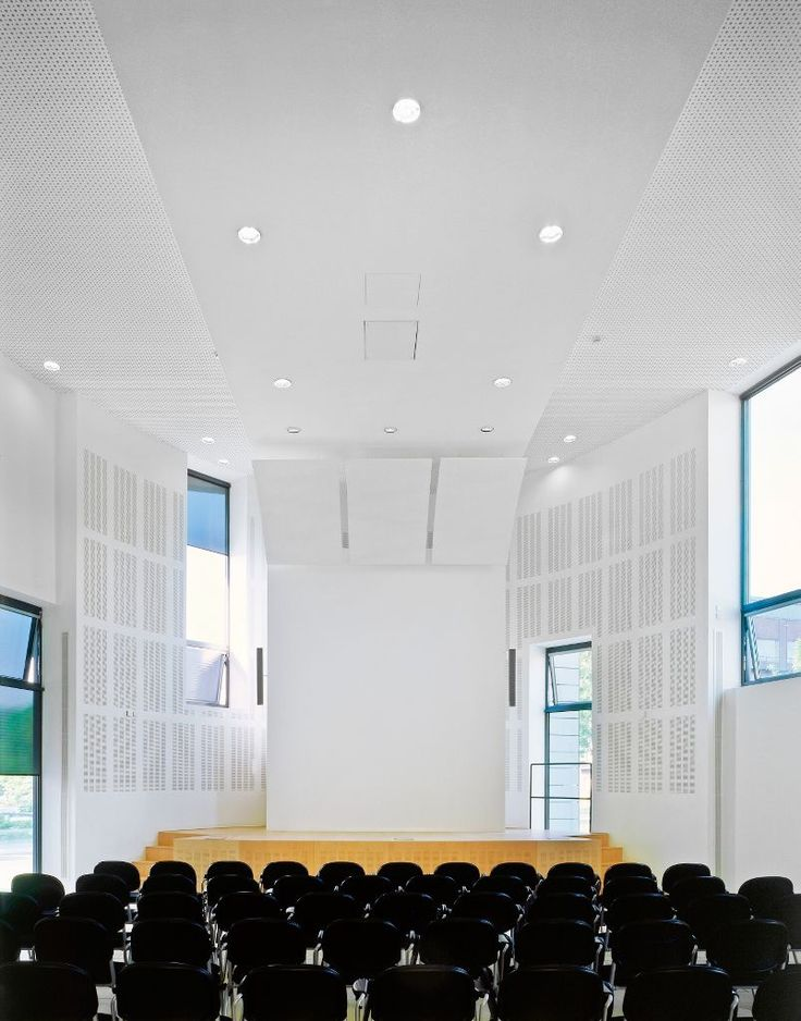 ISAS Institute for Analytical Sciences, Dortmund, Armstrong, ceiling, acoustic, sufit akustyczny, sufity podwieszane, Axiom Canopy