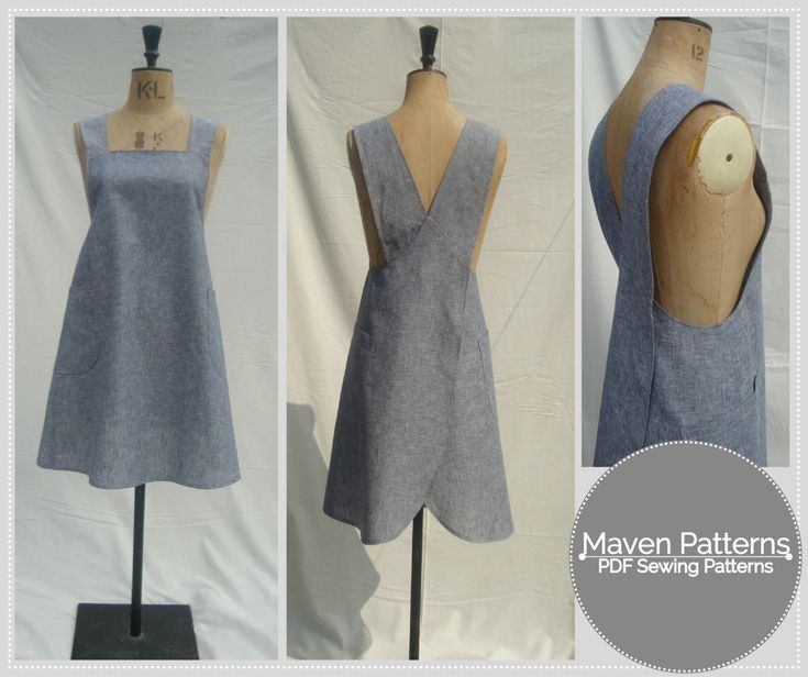 The Maria Wrap Apron - PDF sewing pattern - Japanese apron - womens sewing pattern (8.00 GBP) by mavenpatterns