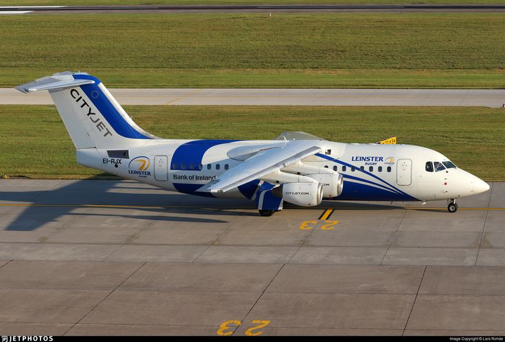 Leinster Rugby special livery. EI-RJX. British Aerospace Avro RJ85. JetPhotos.com is the biggest database of aviation photographs with over 3 million screened photos online!