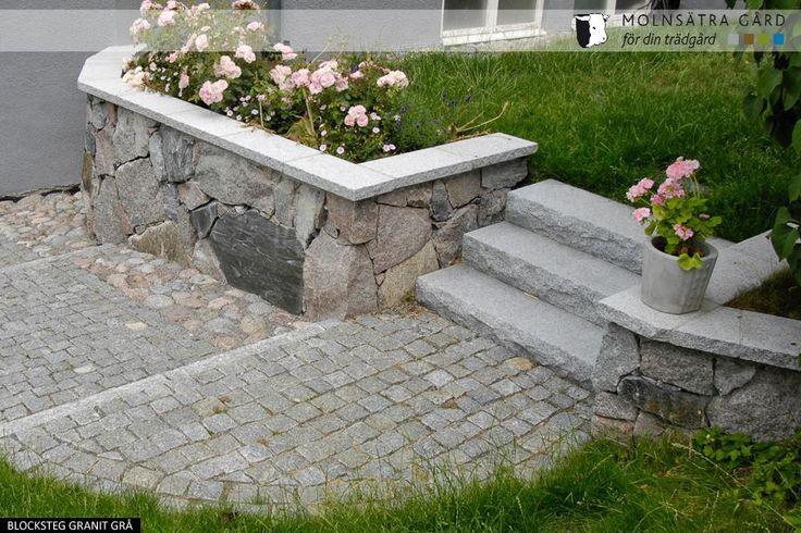 Molnsätra Natursten - Blocksteg 1000 - Bygg exklusiv trappa i granit - Molnsätra