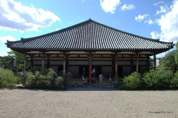 Gangoji Temple is a World Heritage Site in Nara Japan.