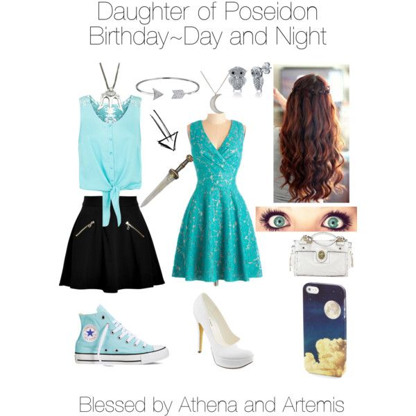 Me, Daughter of Poseidon~Birthday; Blessed by Athena and Artemis by danielaaat on Polyvore featuring polyvore, fashion, style, Monsoon, Juicy Couture, Converse, Michael Antonio, Coach, Renee Lewis and BERRICLE