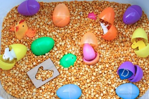 Easter Sensory Bin from Tinkerbean