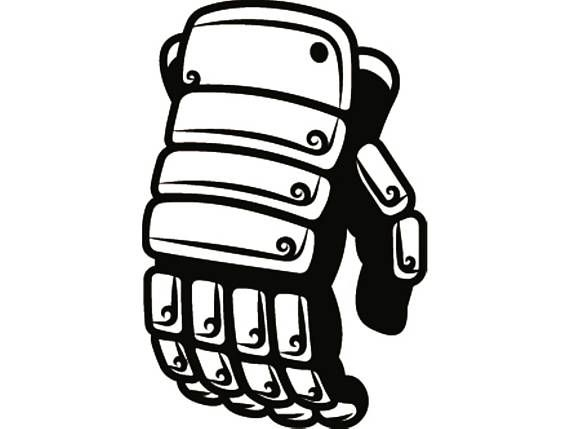 Hockey Glove 2 Equipment Uniform Pads Stadium Arena Ice Rink Sport