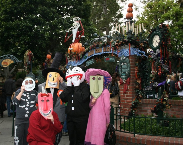 The best Nightmare Before Christmas costumes at Mickey's Halloween Party at Disneyland 2011! I'm pictured as Scary Teddy.