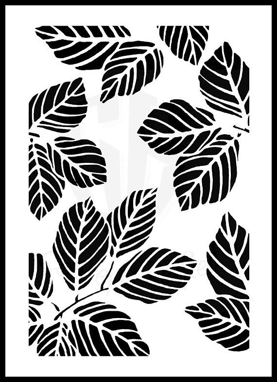 Leaves Stencil Multiple Sizes Available