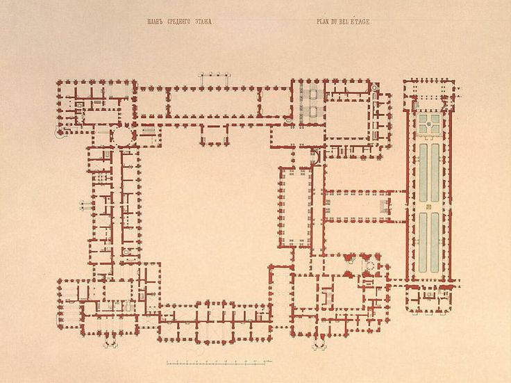Winter palace the plan of the first floor the plan for Palace plan