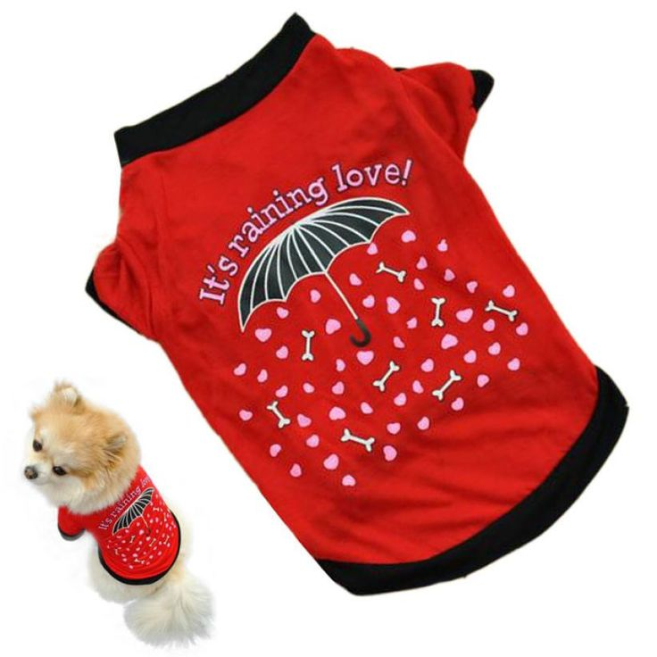 Super Deal 2016 dog clothing Pet Dog clothes small Costume cheap wears Clothes T-shirt Summer chihuahua products for dogs XT