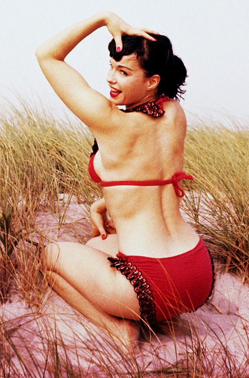 My end weight loss goal is to do pin up pictures for the hubby. I love Betty Page!!
