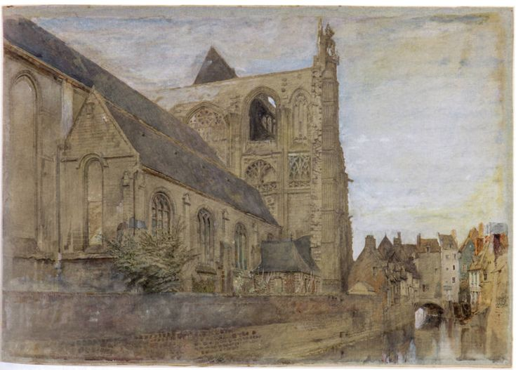St. Wulfran, Abbeville, Seen from the River (1868) by John Ruskin