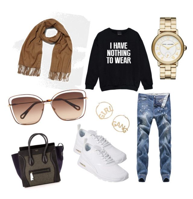 """""""shoping"""" by chantallb on Polyvore featuring NIKE, CÉLINE, Chloé, BP. and Marc by Marc Jacobs"""