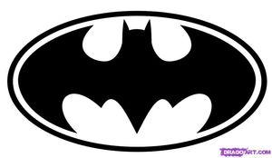 How To Draw Batman Logo Step image - vector clip art online, royalty free & public domain