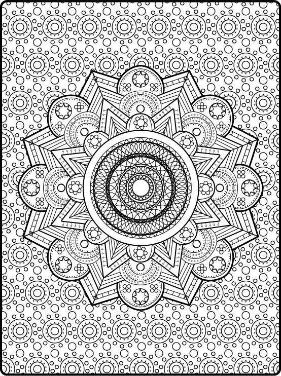 Kleurplaten Mandala Pdf.Zen Coloring Mandala Printable Adult Coloring Book Pages Pdf