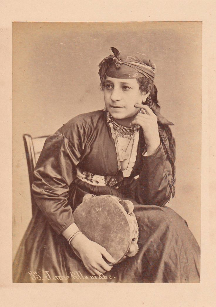 Sebah, Pascal - Jeune fille arabe, no. 53 (Young Arab girl), albumen print