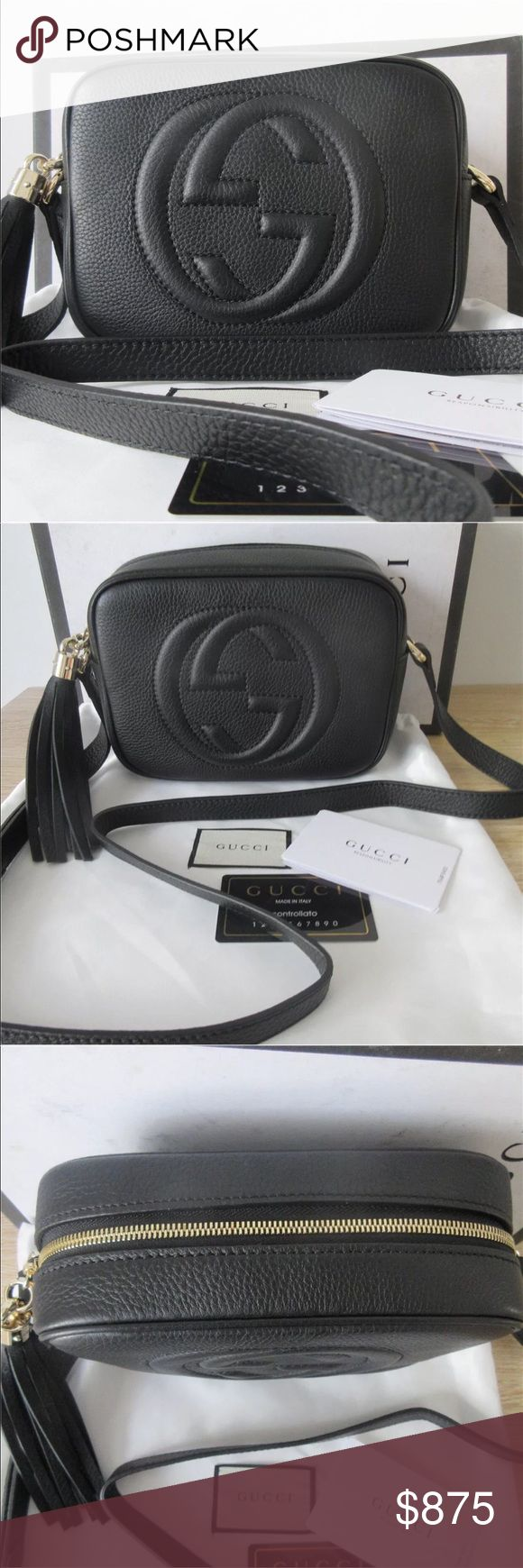 Black Gucci Soho Disco Crossbody Bag 100% Authentic 🛍 We are a very negotiable service 🛍 We provide overnight shipping and express shipping 🛍 Our transactions are made through third party applications 🛍 If you are interested in buying this product please contact us via 646-431-6521 🛍 Gucci Bags Crossbody Bags