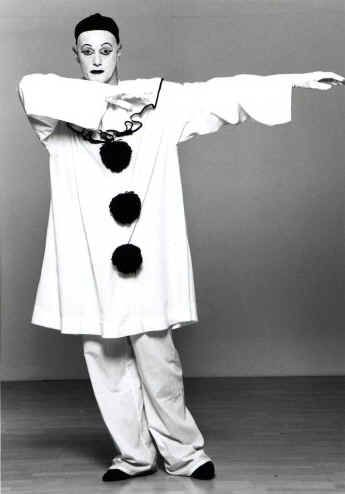 Andy Sinclair as his Pierrot Character