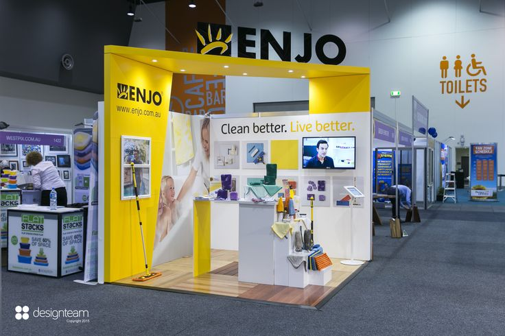 ENJO @ BETTER HOMES & GARDENS This multi use stand allows Enjo to sell its unique cleaning products directly to the general public.