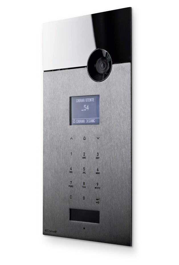 The Sense 316 door entry panel is made entirely of AISI 316 stainless steel. In contrast to traditional products, the metal surface is free of buttons, as the surface itself is touch-sensitive. The front panel is made using a sophisticated production process to achieve the required differences in material thickness needed for the capacitive sensors to work...