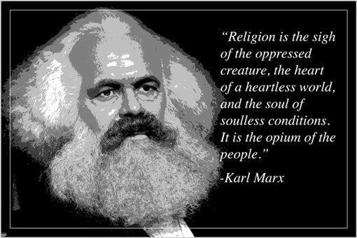 """""""religion opium of the people"""" KARL MARX motivational quote poster 24X36 Brand New. 24x36 inches. Will ship in a tube. - Multiple item purchases are combined the next day and get a discount for domest"""