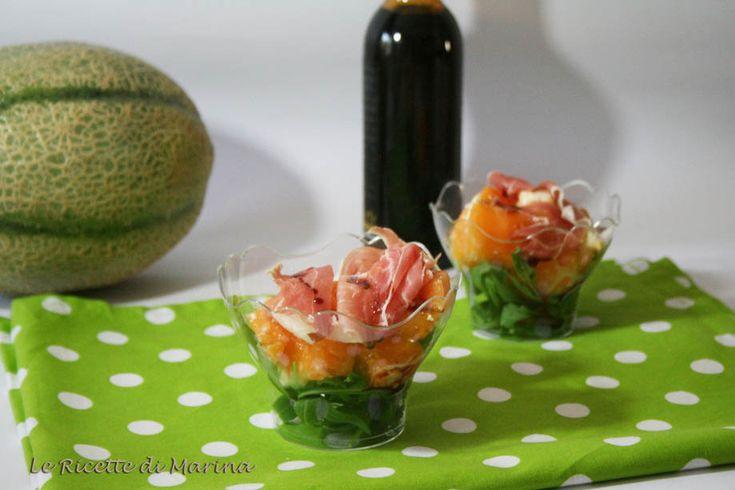 Insalata di melone prosciutto e feta