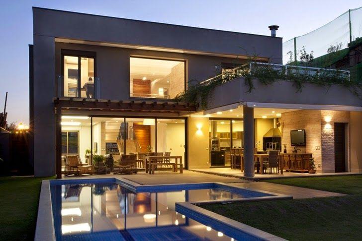 Casa brasileira com arquitetura e decoração moderna - linda! - Decor Salteado - Blog de Decoração e Arquitetura