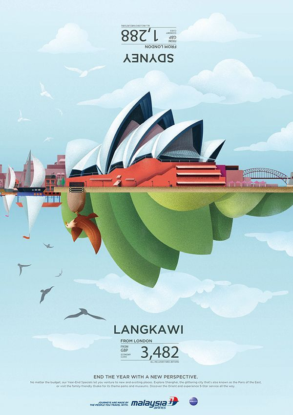 27 Cool & Creative Poster Designs - Malaysia Airlines - Year End Sale 2013 by Kelvin Teow