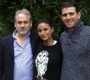 Michael Maren (Director), Emmanuelle Chiriqui (Zohan, Entourage) and Brian Greenberg (one Tree Hill) making the rounds at The Maidstone c/o ...