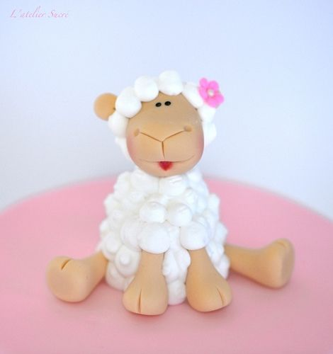 Sheep fondant & royal icin figurine | lateliersucre | Flickr