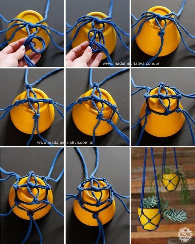 suspension pour pot de fleur