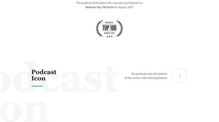 Medium Podcasts on Behance