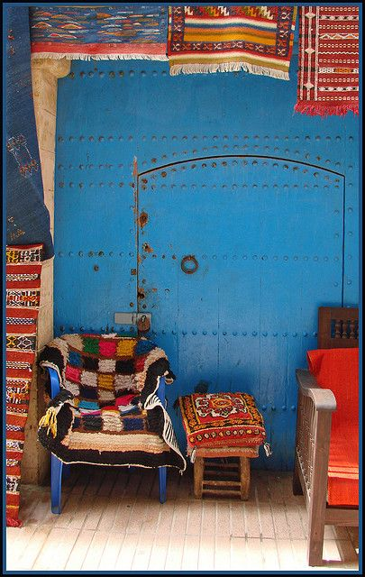 loving all the vibrant colors in this photo.  North Africa - various textiles galore