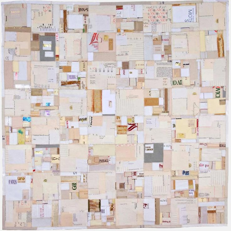 Fou by Lisa Kokin | Self-help book parts, mull, thread 40 x 40 2010