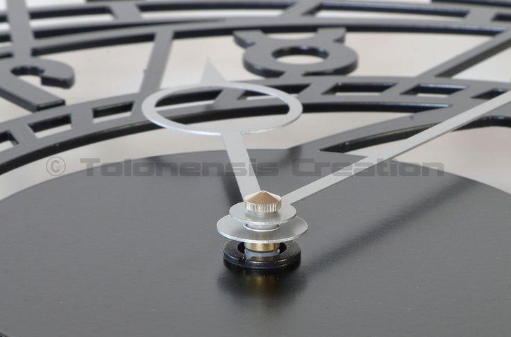 "Metal Wall clock ZODIAC - 40 cm / 16"" - Laser cutting design - © Tolonensis Creation"