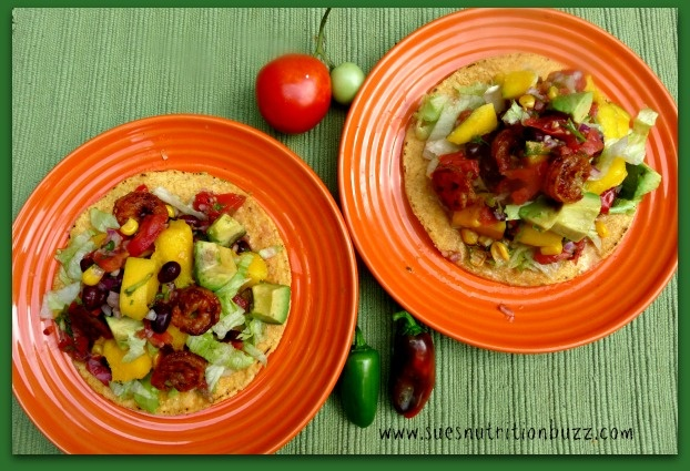 Chipotle Shrimp Mango Tostadas with Chunky Black Bean Corn Salsa ...