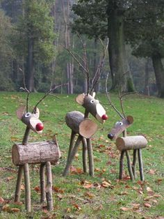 Red noses in wood... #Christmas