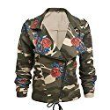 Romanstii Women's Girls Army Green Camouflage Jackets Coat Zipper Cardigans Denim Jacket at Amazon Women's Coats Shop - Trendy and Casual
