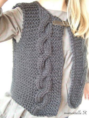 patron de tricot gratuit : veste petite fille