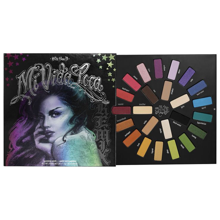 Kat Von D Mi Vida Loca Remix Eyeshadow Palette colors are awesome for sure