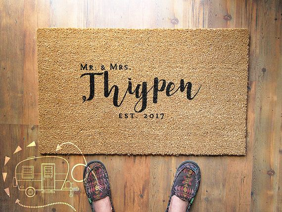 Personalized Door Mat  Personalized Doormat  Custom Doormat